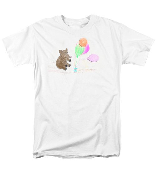 Ellie And Balloons Men's T-Shirt  (Regular Fit) by Judy Hall-Folde