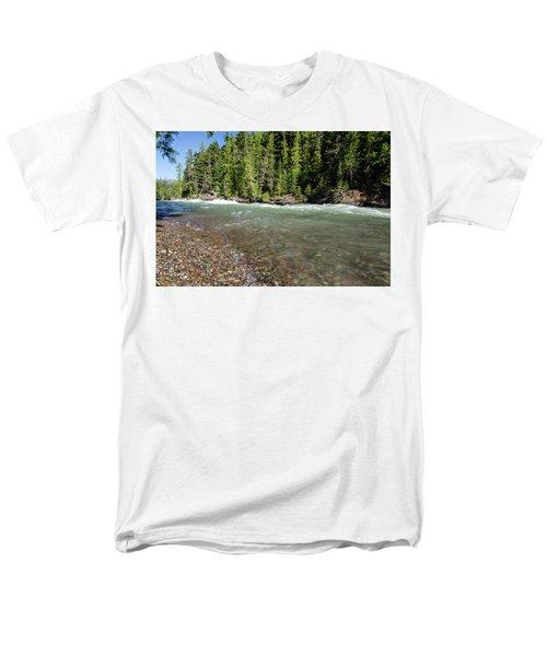 Emerald Waters Flow Men's T-Shirt  (Regular Fit)