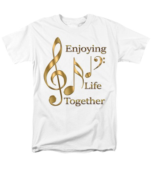 Enjoying Life Together Men's T-Shirt  (Regular Fit) by Georgeta Blanaru
