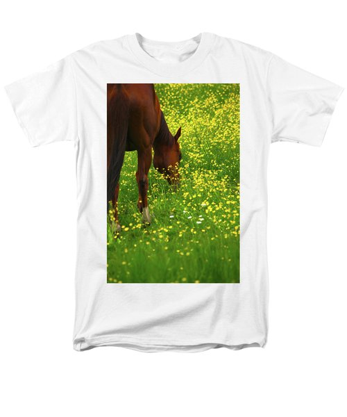 Men's T-Shirt  (Regular Fit) featuring the photograph Enjoying The Wildflowers by Karol Livote