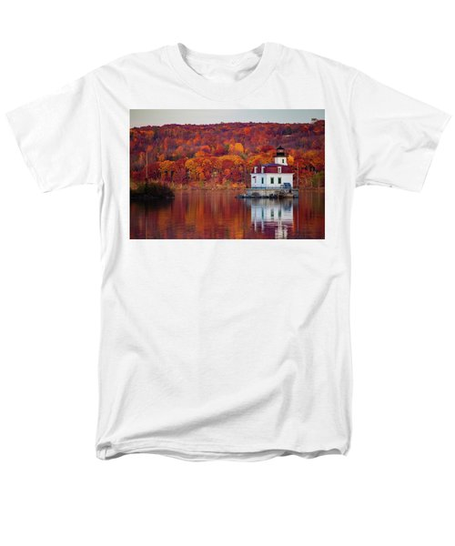 Men's T-Shirt  (Regular Fit) featuring the photograph Esopus Lighthouse In Late Fall #1 by Jeff Severson