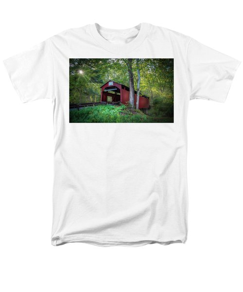 Men's T-Shirt  (Regular Fit) featuring the photograph Esther Furnace Bridge by Marvin Spates