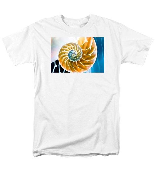 Eternal Golden Spiral Men's T-Shirt  (Regular Fit) by Colleen Kammerer