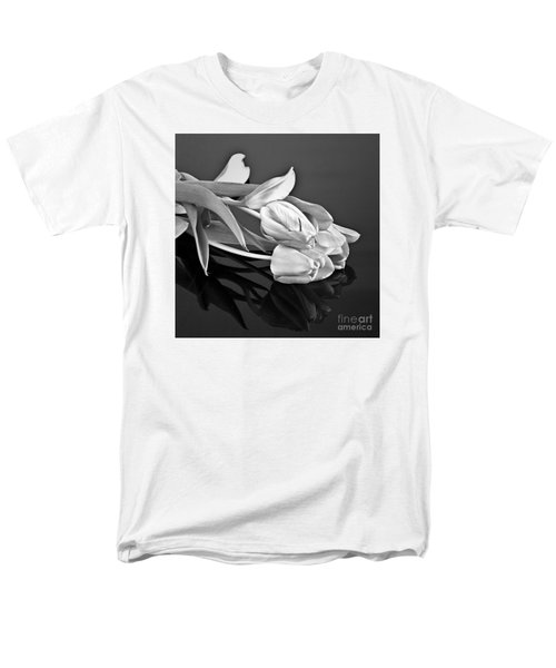 Even Tulips Are Beautiful In Black And White Men's T-Shirt  (Regular Fit) by Sherry Hallemeier