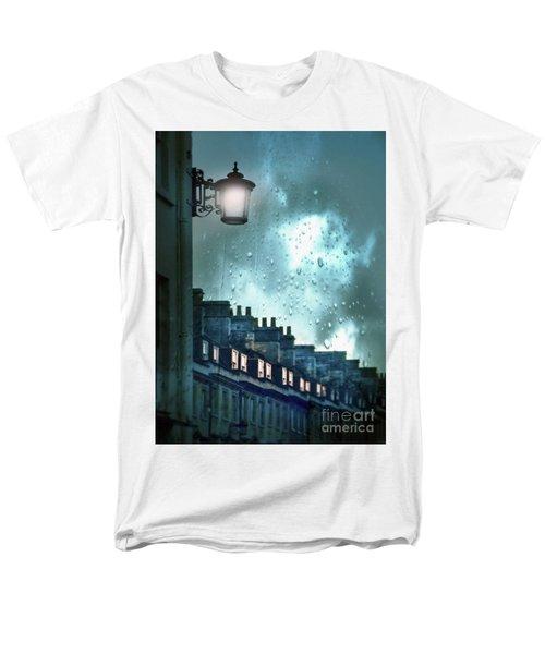 Men's T-Shirt  (Regular Fit) featuring the photograph Evening Rainstorm In The City by Jill Battaglia