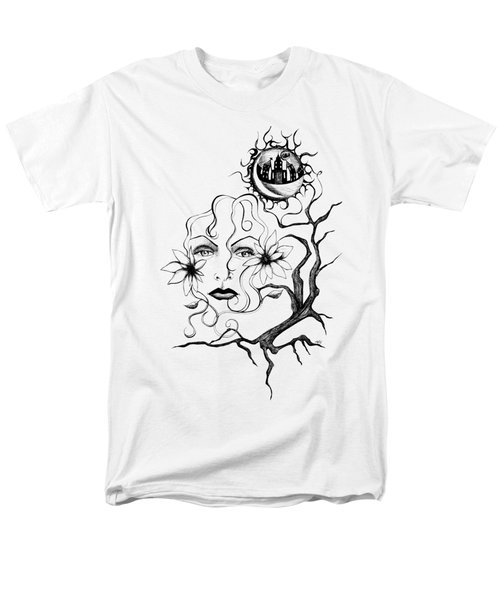 Men's T-Shirt  (Regular Fit) featuring the drawing Eye Of The Beholder by Shawna Rowe