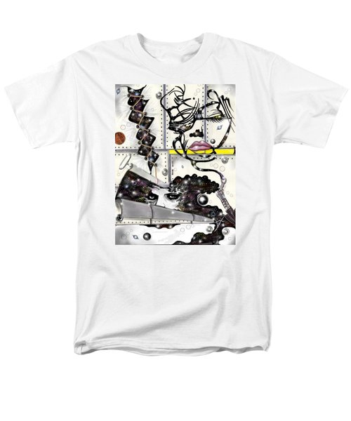 Faces In Space Men's T-Shirt  (Regular Fit) by Darren Cannell