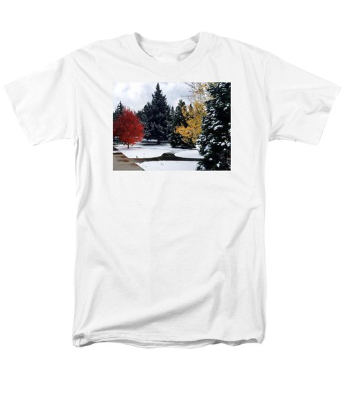 Fall Into Winter Men's T-Shirt  (Regular Fit) by Russell Keating