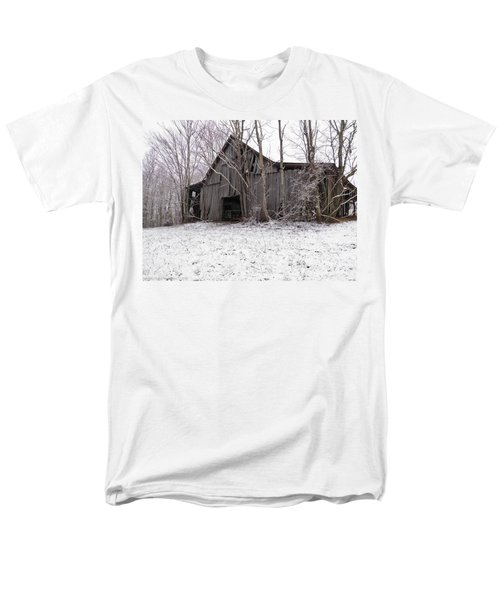 Falling Barn Men's T-Shirt  (Regular Fit) by Nick Kirby