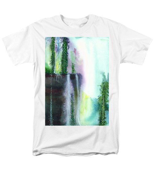 Falling Waters 1 Men's T-Shirt  (Regular Fit) by Anil Nene