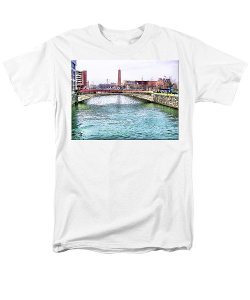 Men's T-Shirt  (Regular Fit) featuring the photograph Fallswalk And Shot Tower by Brian Wallace