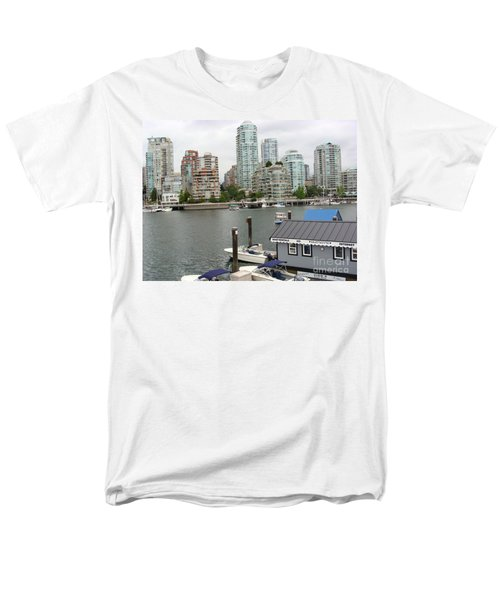 Men's T-Shirt  (Regular Fit) featuring the painting False Creek Vancouver by Rod Jellison