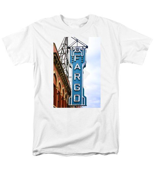 Fargo Blue Theater Sign Men's T-Shirt  (Regular Fit) by Chris Smith
