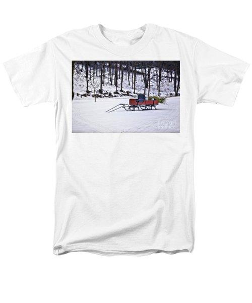 Farm Sleigh Men's T-Shirt  (Regular Fit) by Nicki McManus