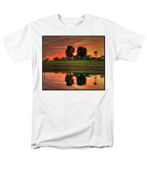 Men's T-Shirt  (Regular Fit) featuring the photograph Farm Sunset by Farol Tomson