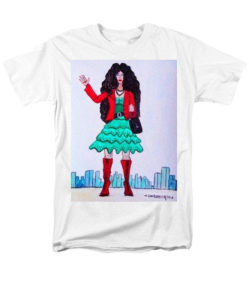 Fashionist Hailing A Taxi Men's T-Shirt  (Regular Fit) by Don Pedro De Gracia