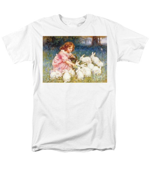 Feeding The Rabbits Men's T-Shirt  (Regular Fit) by Frederick Morgan
