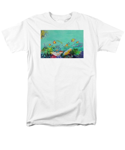 Men's T-Shirt  (Regular Fit) featuring the painting Feeding Time by Lyn Olsen