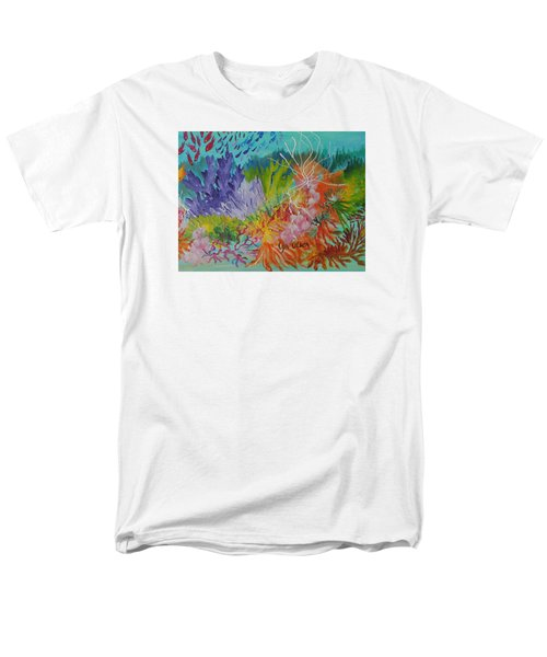 Men's T-Shirt  (Regular Fit) featuring the painting Feeding Time On The Reef #3 by Lyn Olsen