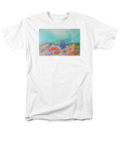 Men's T-Shirt  (Regular Fit) featuring the painting Feeding Time On The Reef by Lyn Olsen