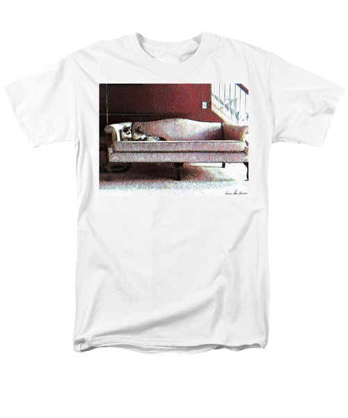 Men's T-Shirt  (Regular Fit) featuring the photograph Felines Be Like... by Iowan Stone-Flowers