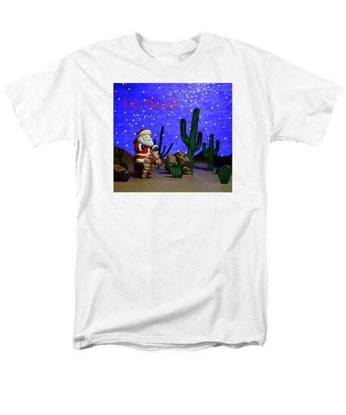 Feliz Navida Santa Men's T-Shirt  (Regular Fit) by Marna Edwards Flavell