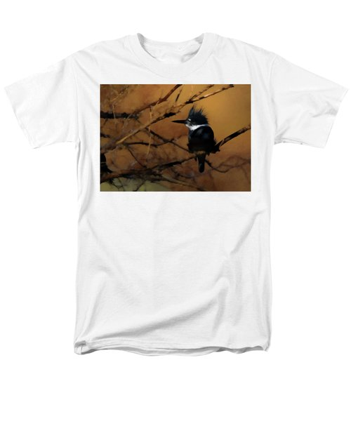 Men's T-Shirt  (Regular Fit) featuring the digital art Female Belted Kingfisher 2 by Ernie Echols