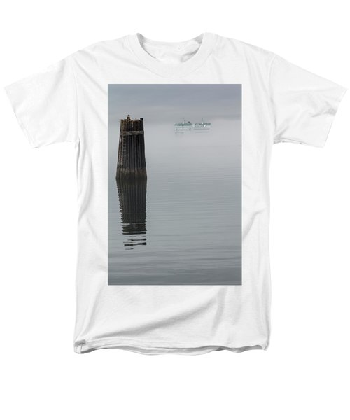 Ferry Hiding In The Fog Men's T-Shirt  (Regular Fit) by Tony Locke