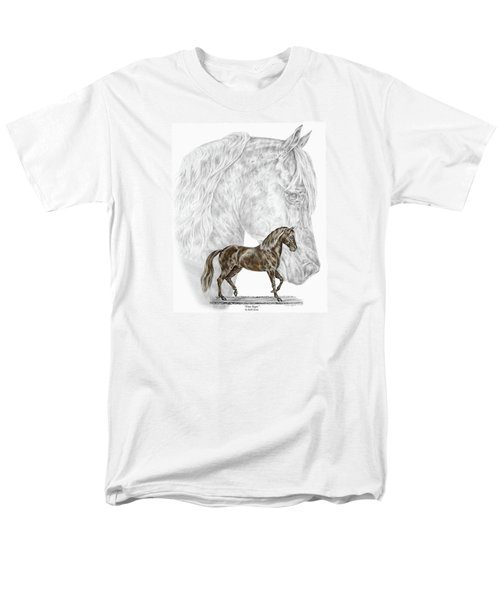 Fine Steps - Paso Fino Horse Print Color Tinted Men's T-Shirt  (Regular Fit) by Kelli Swan