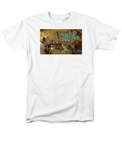 Fink Color Graffiti Men's T-Shirt  (Regular Fit) by Arik S Mintorogo