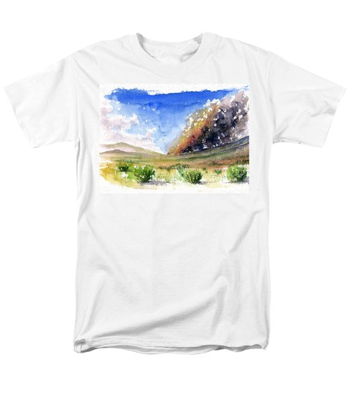 Fire In The Desert 1 Men's T-Shirt  (Regular Fit) by John D Benson