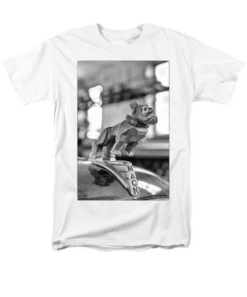 Men's T-Shirt  (Regular Fit) featuring the photograph Fire Truck Hood Ornament by Patricia Schaefer