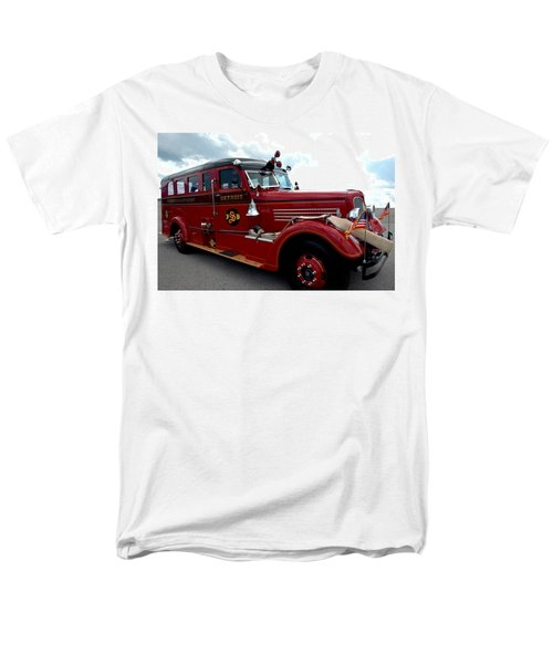 Fire Truck Selfridge Michigan Men's T-Shirt  (Regular Fit) by LeeAnn McLaneGoetz McLaneGoetzStudioLLCcom