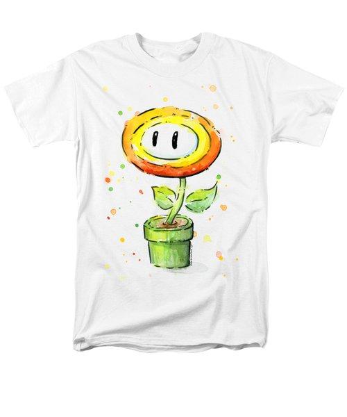 Fireflower Watercolor Men's T-Shirt  (Regular Fit) by Olga Shvartsur