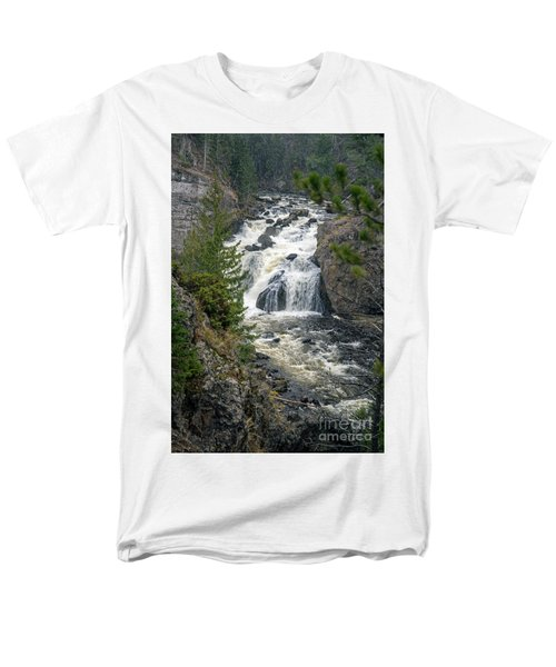 Firehole Falls Men's T-Shirt  (Regular Fit) by Cindy Murphy - NightVisions