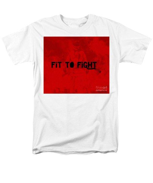 Fireman In Red Men's T-Shirt  (Regular Fit) by Megan Dirsa-DuBois