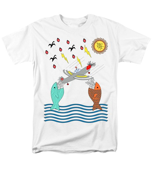 Fish Food Men's T-Shirt  (Regular Fit) by Methune Hively
