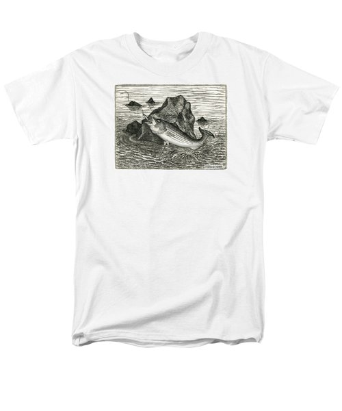 Men's T-Shirt  (Regular Fit) featuring the photograph Fishing The Rocks by Charles Harden
