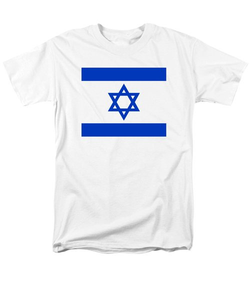 Flag Of Israel Authentic Version Men's T-Shirt  (Regular Fit) by Bruce Stanfield