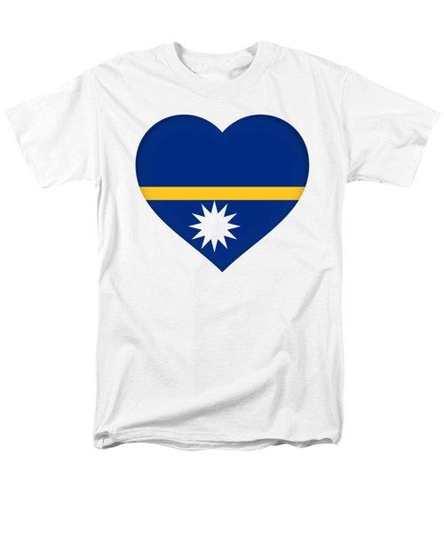 Flag Of Nauru Heart Men's T-Shirt  (Regular Fit) by Roy Pedersen
