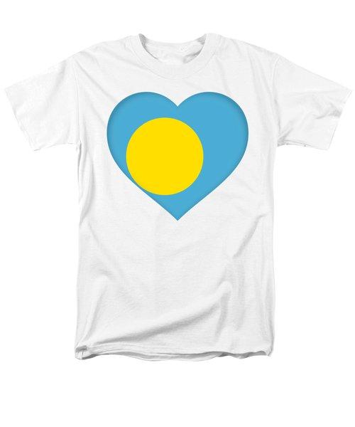 Flag Of Palau Heart  Men's T-Shirt  (Regular Fit) by Roy Pedersen