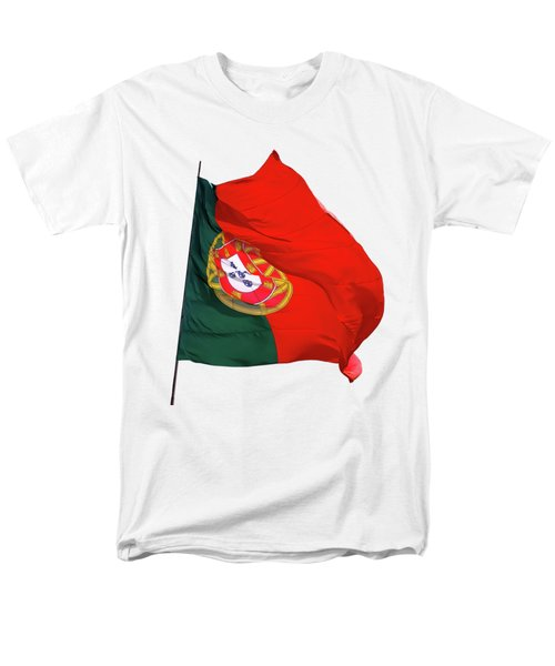 Men's T-Shirt  (Regular Fit) featuring the photograph Flag Of Portugal by Menega Sabidussi
