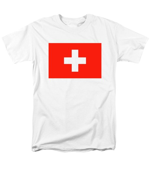 Flag Of Switzerland Men's T-Shirt  (Regular Fit) by Bruce Stanfield