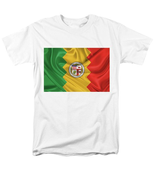 Flag Of The City Of Los Angeles Men's T-Shirt  (Regular Fit) by Serge Averbukh