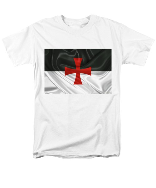 Flag Of The Knights Templar Men's T-Shirt  (Regular Fit) by Serge Averbukh