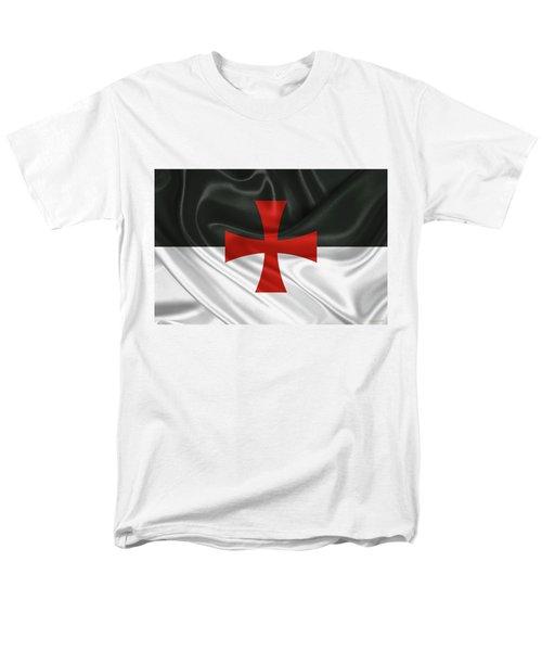 Flag Of The Knights Templar Men's T-Shirt  (Regular Fit)