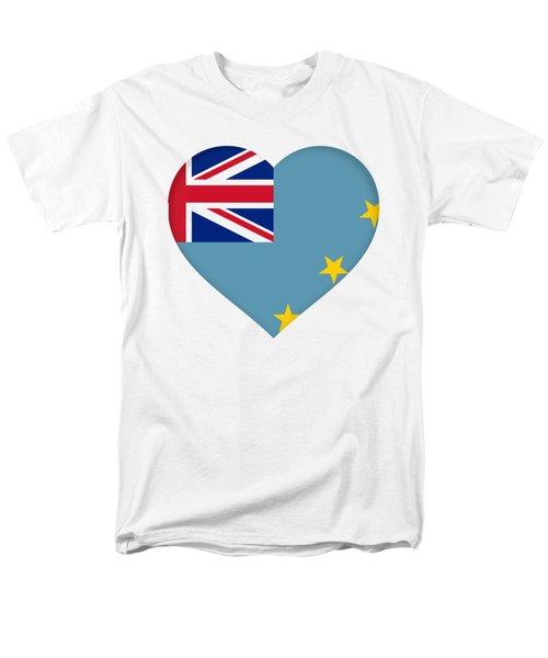 Flag Of Tuvalu Heart  Men's T-Shirt  (Regular Fit) by Roy Pedersen