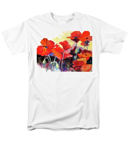 Men's T-Shirt  (Regular Fit) featuring the painting Flaming Poppies by Kathy Braud
