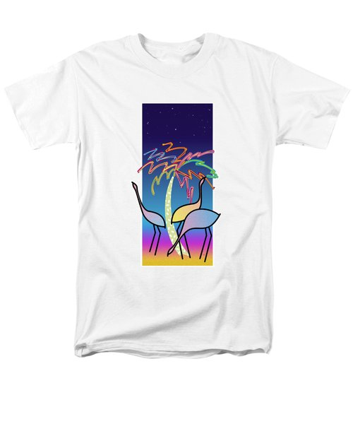 Flamingos Men's T-Shirt  (Regular Fit) by Steve Ellis