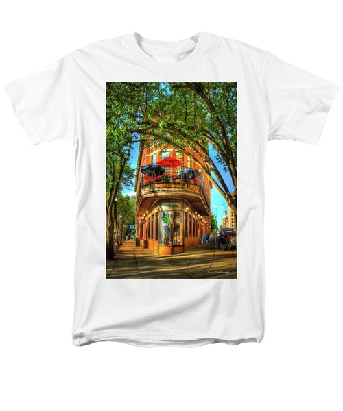 Flatiron Style Pickle Barrel Building Chattanooga Tennessee Men's T-Shirt  (Regular Fit) by Reid Callaway